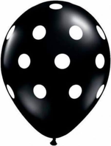 Big Polka Dot Latex Balloon - Black
